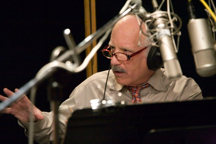 Richard Dreyfuss at narration session for Signs of the Time