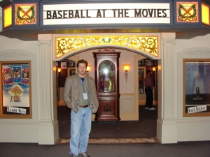Don Casper at the Hall of Fame Exhibit for the History of Baseball and Movies